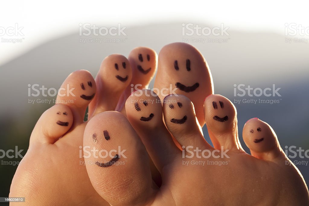Happy Toes royalty-free stock photo