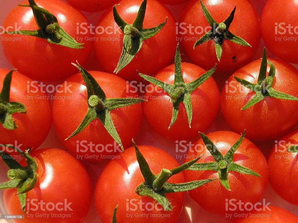 Happy tomatoes royalty-free stock photo