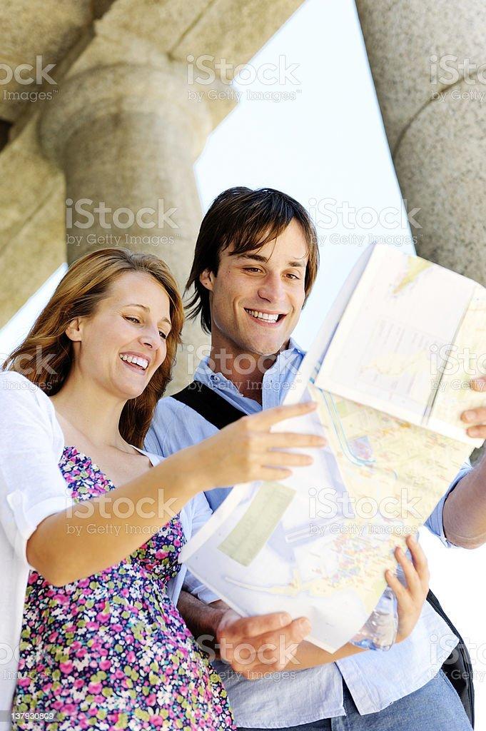 happy travel couple royalty-free stock photo