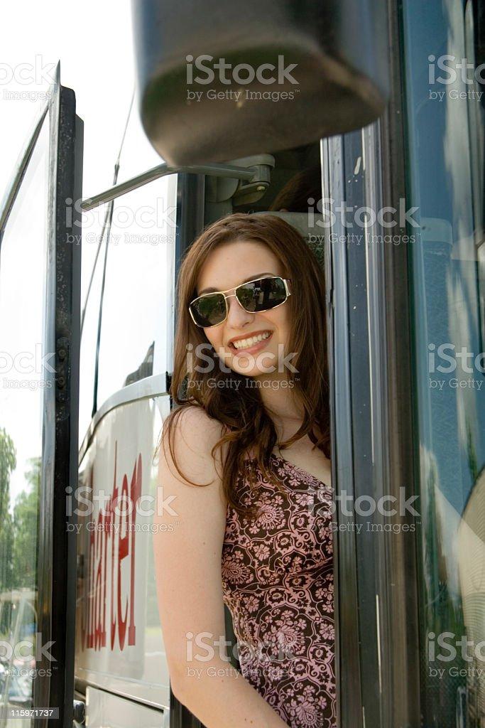 Happy Traveler royalty-free stock photo