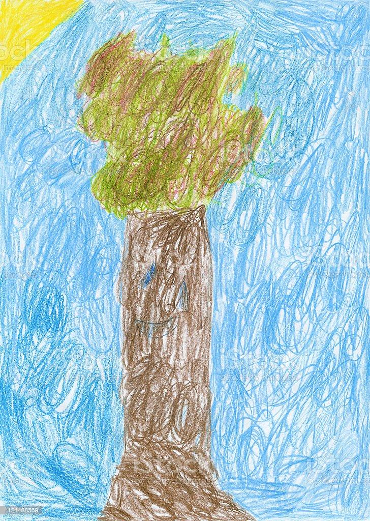 Happy Tree stock photo