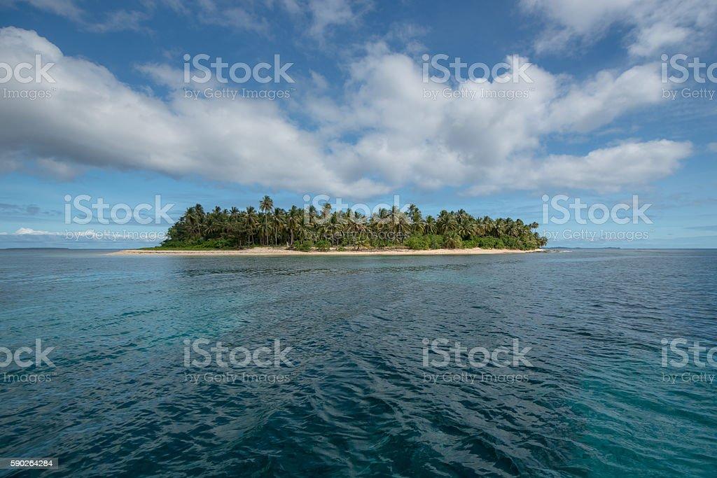 Happy tropical island stock photo