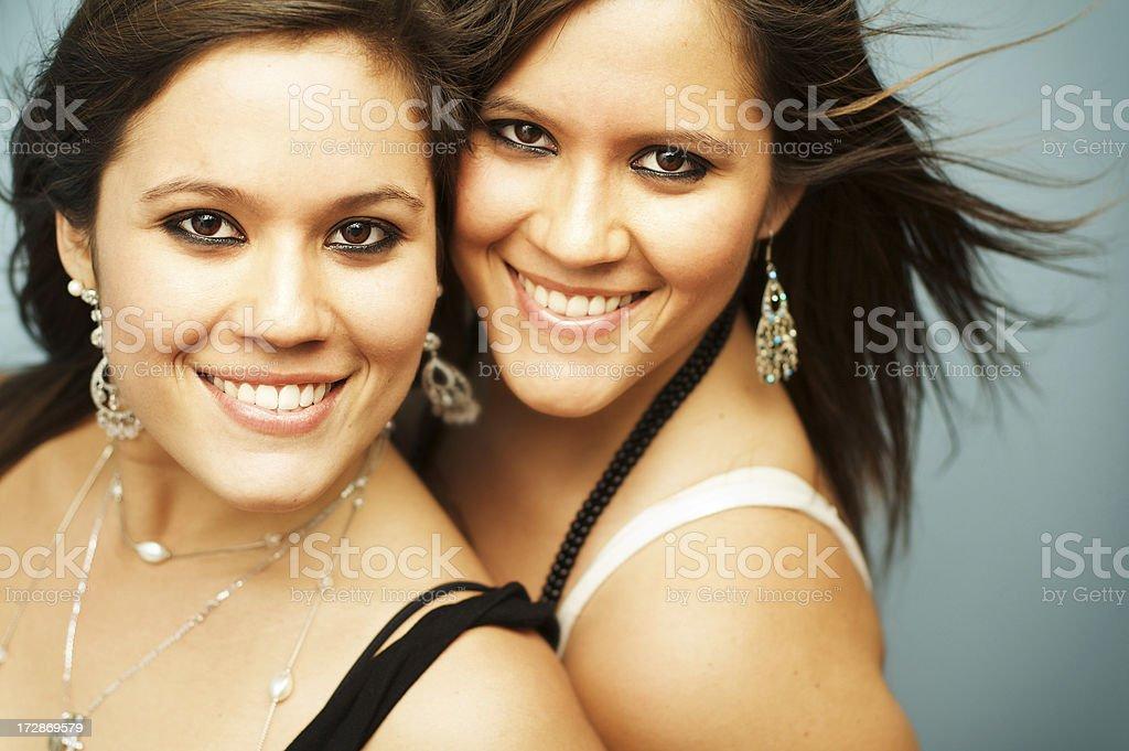 Happy Twins royalty-free stock photo