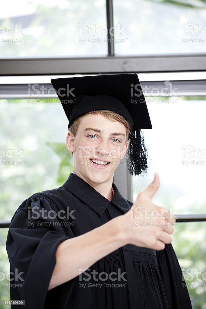 Happy University graduate stock photo