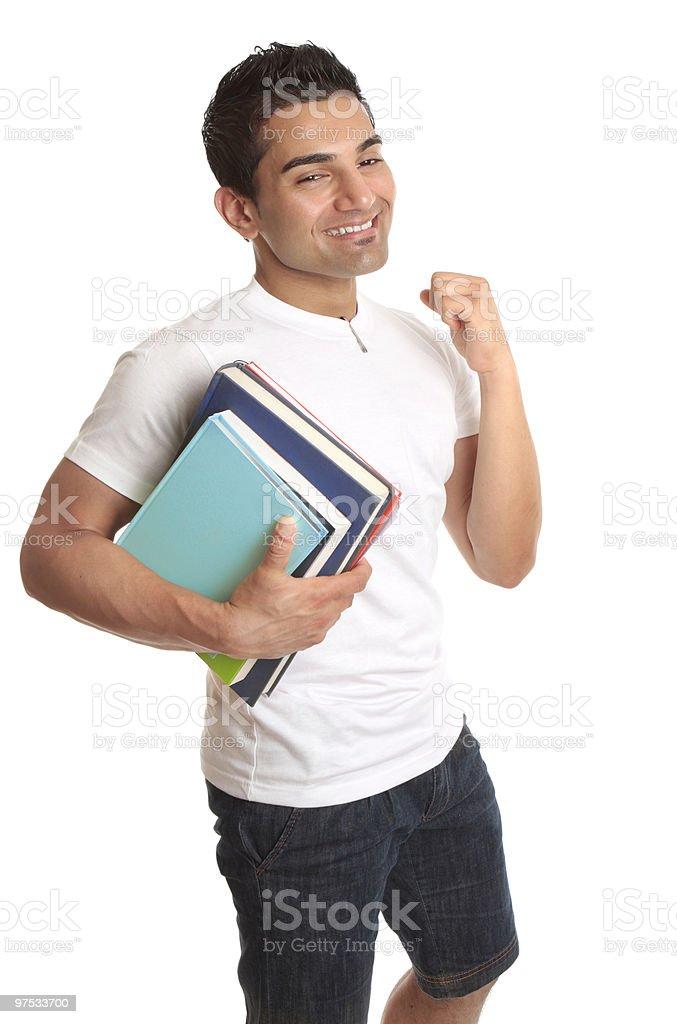 Happy University Student Acceptance royalty-free stock photo