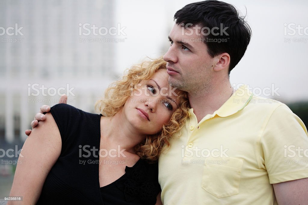 happy urban couple royalty-free stock photo