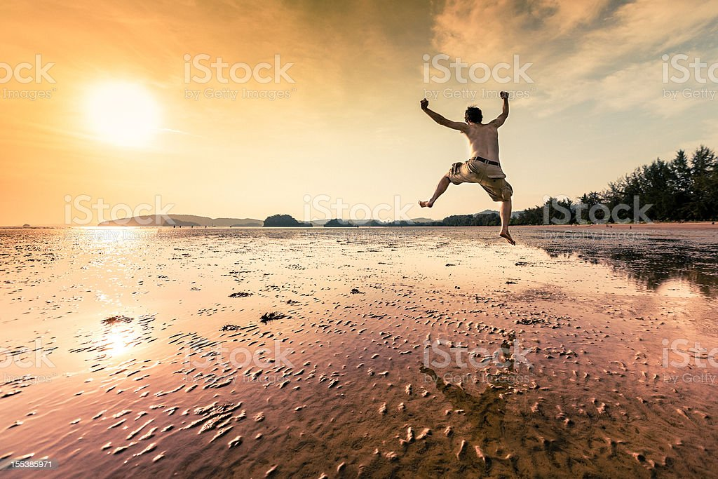 Happy vacation royalty-free stock photo
