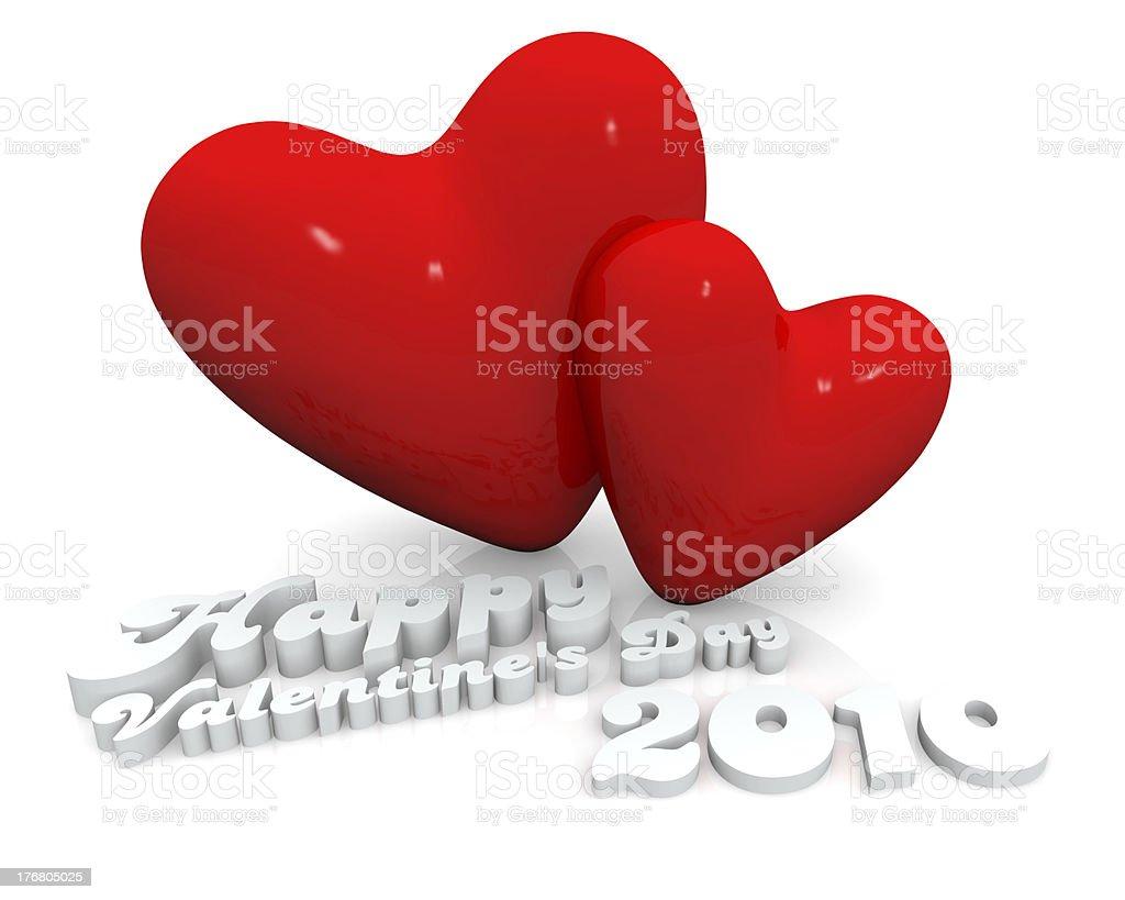 Feliz día de San Valentín de 2010 foto de stock libre de derechos