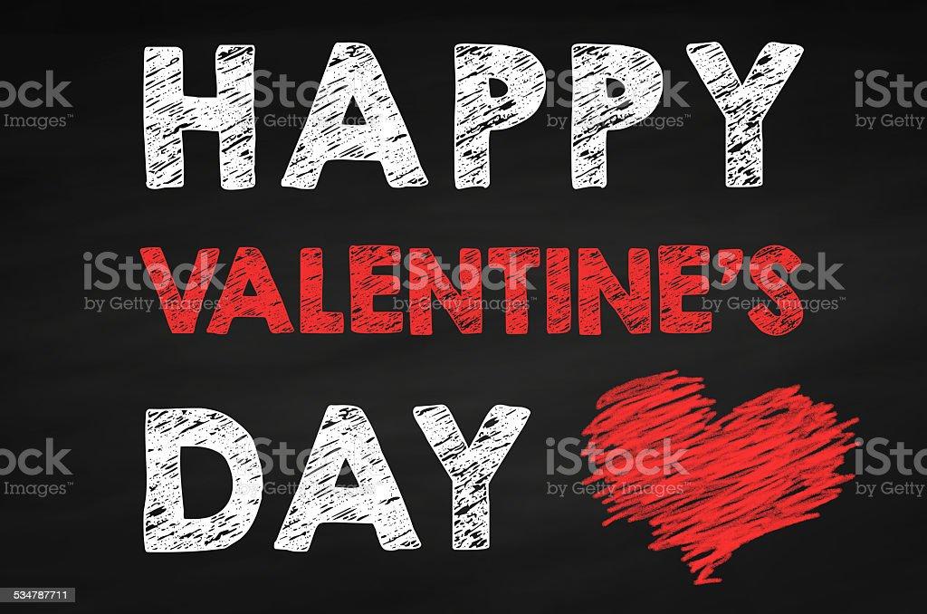 Happy Valentine's Day Chalkboard stock photo