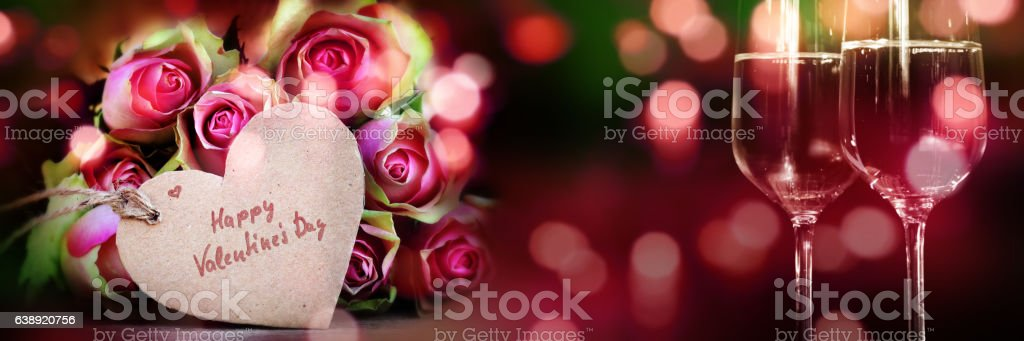 Happy valentines day for a greeting card stock photo