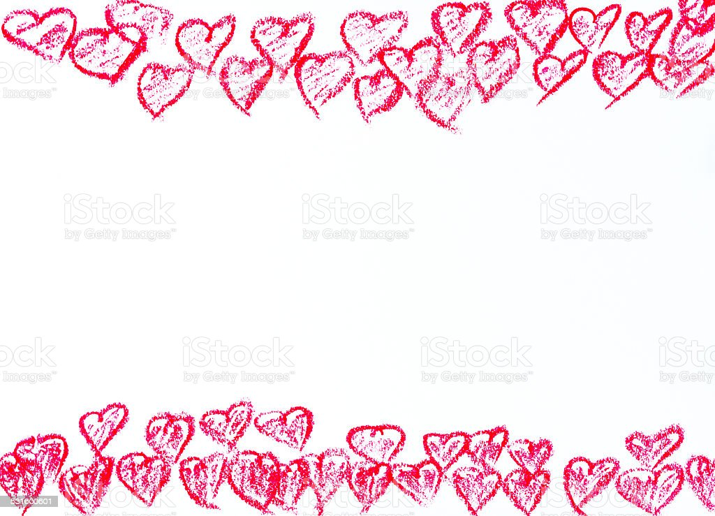 Happy Valentines Day frame image concept stock photo