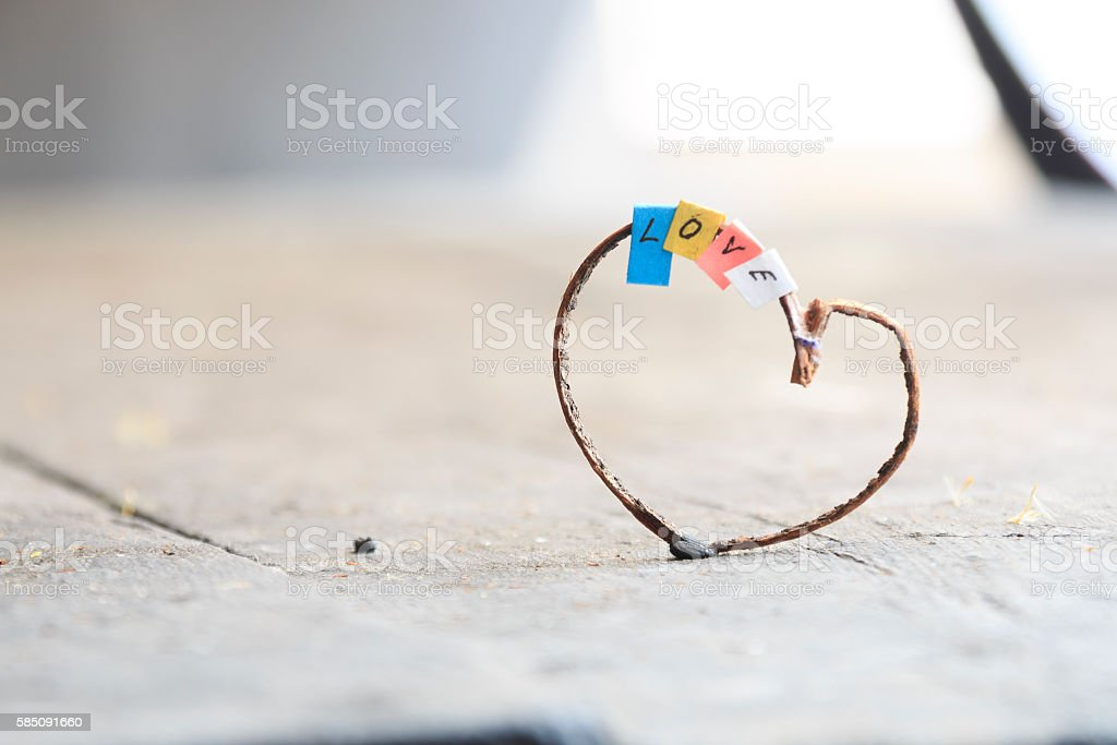 Happy valentines day or weeding card stock photo