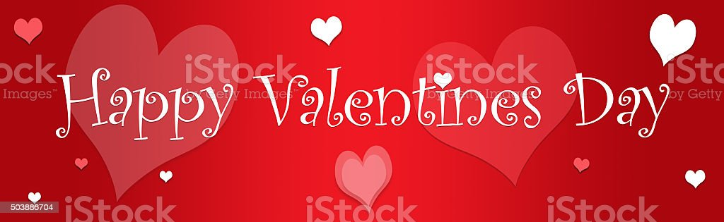 happy valentines day web banner february stock photo