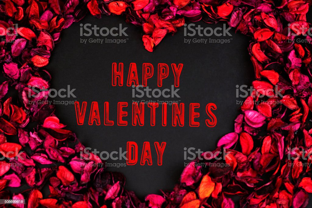 Happy Valentine's Day with Roses stock photo