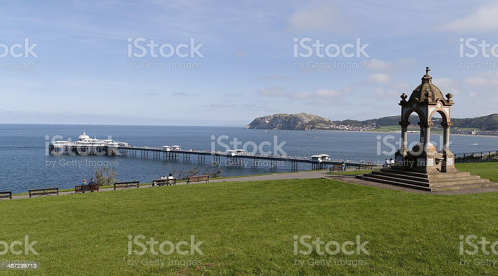 Happy Valley, Llandudno, North Wales. stock photo