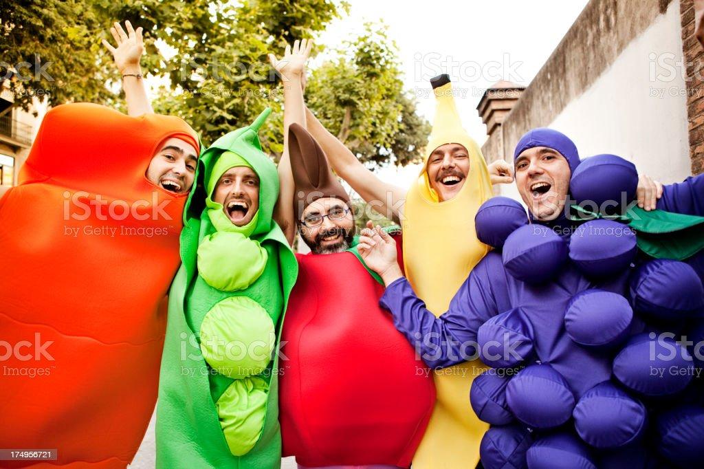 Happy Vegetables royalty-free stock photo