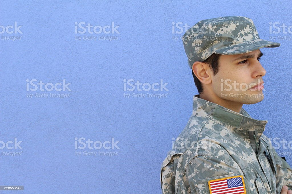 Happy veterans day with copy space stock photo