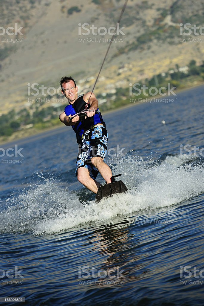 Happy Wakeboarder royalty-free stock photo
