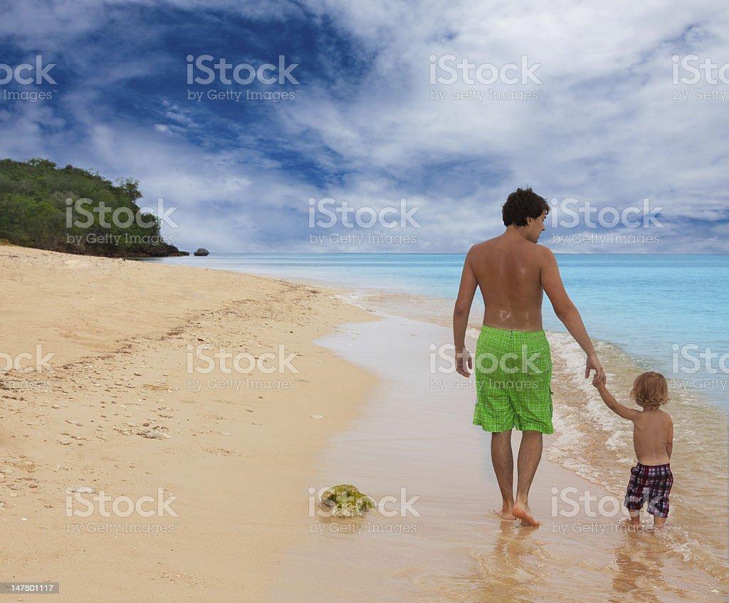 happy walk by the sea royalty-free stock photo