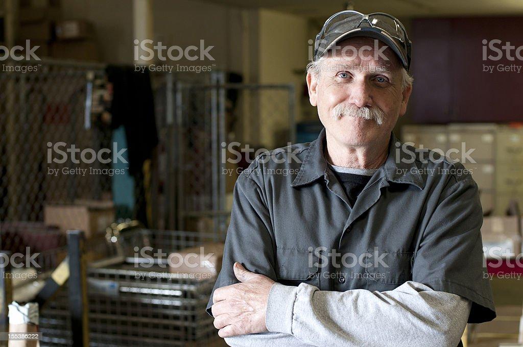 Happy Warehouse Employee stock photo