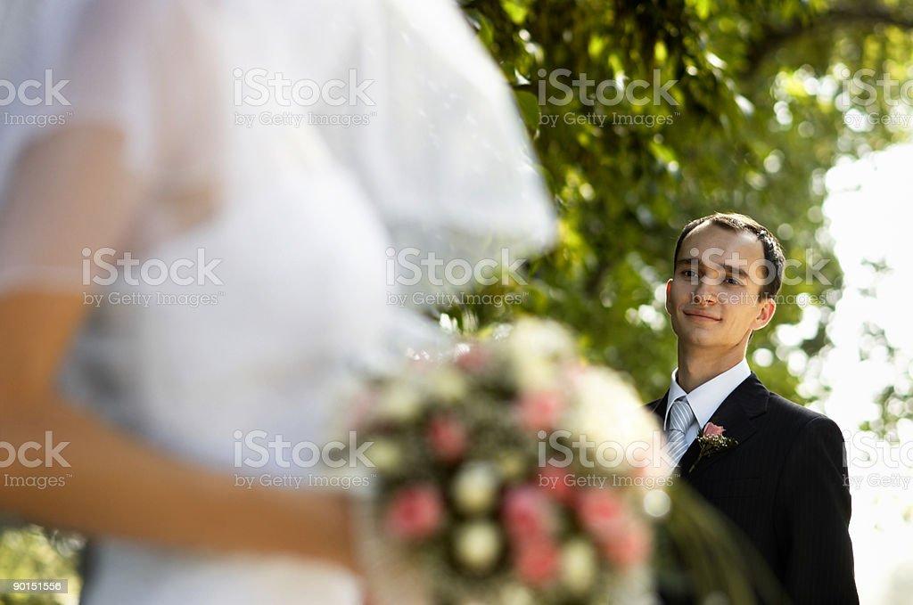 Happy wedding day stock photo
