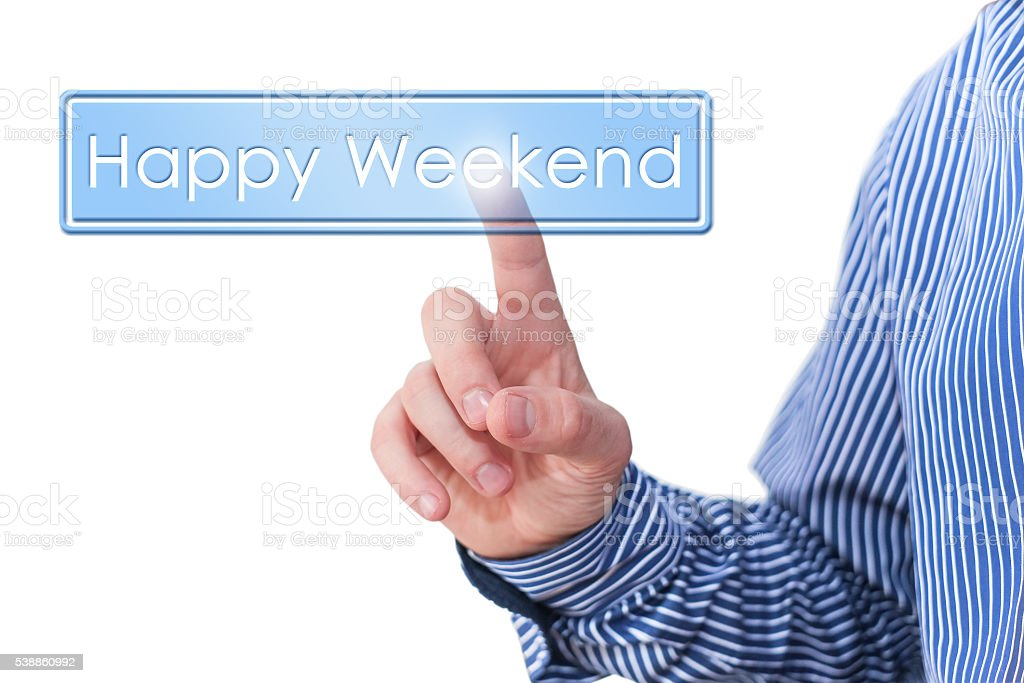 Happy weekend stock photo