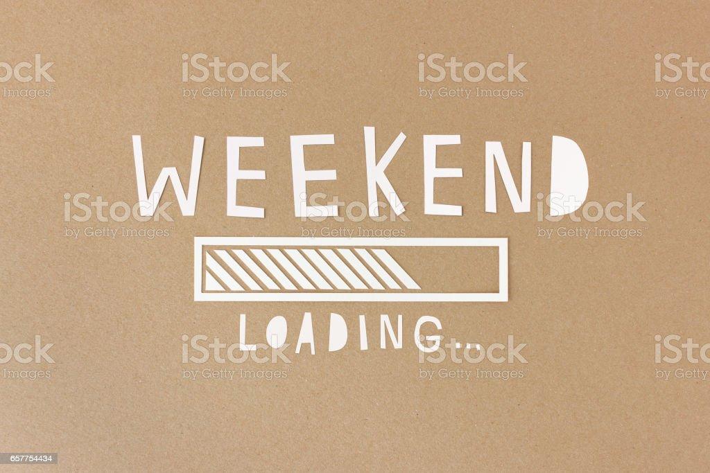 Happy weekend stock photo