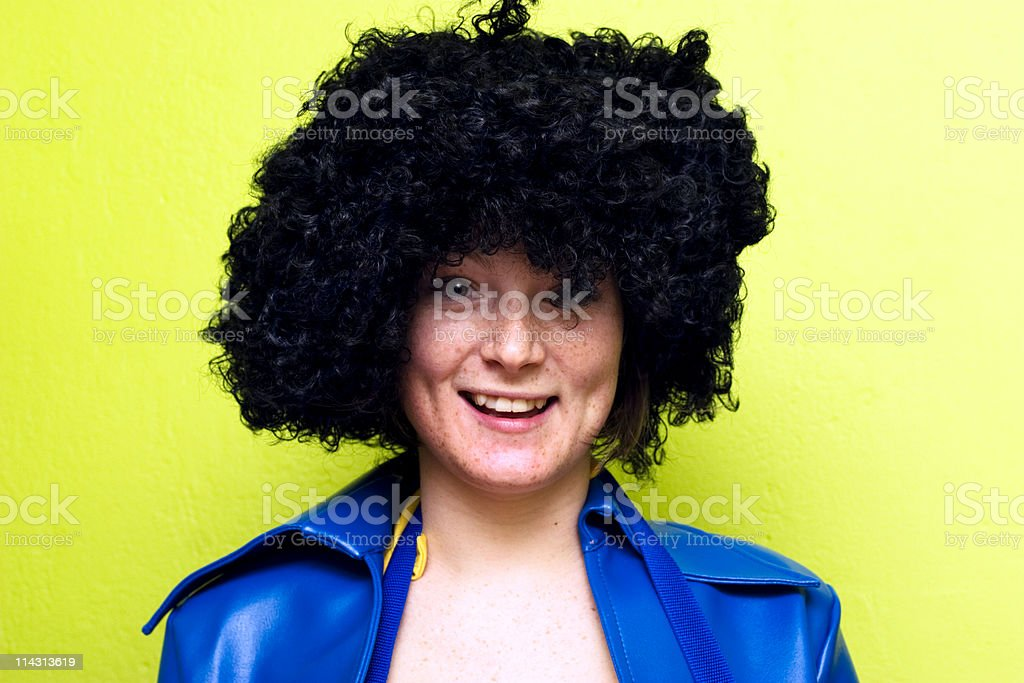 Happy weirdo stock photo