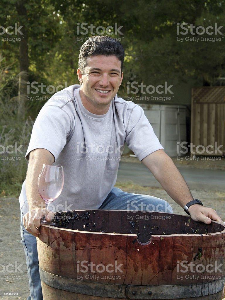 Happy wine maker royalty-free stock photo