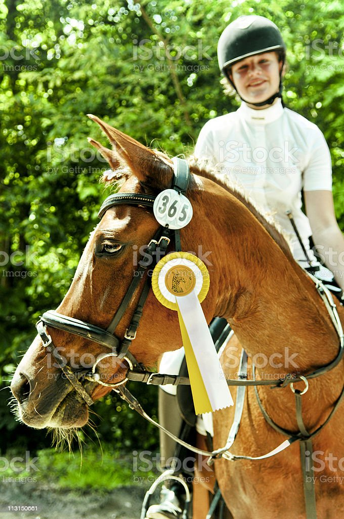 Happy winner royalty-free stock photo