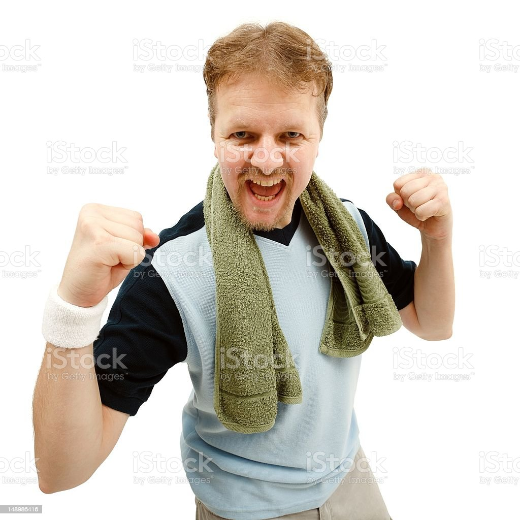 Happy, winner sportsman royalty-free stock photo