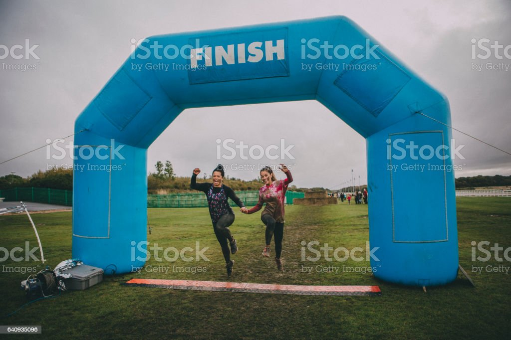 Happy Winners stock photo