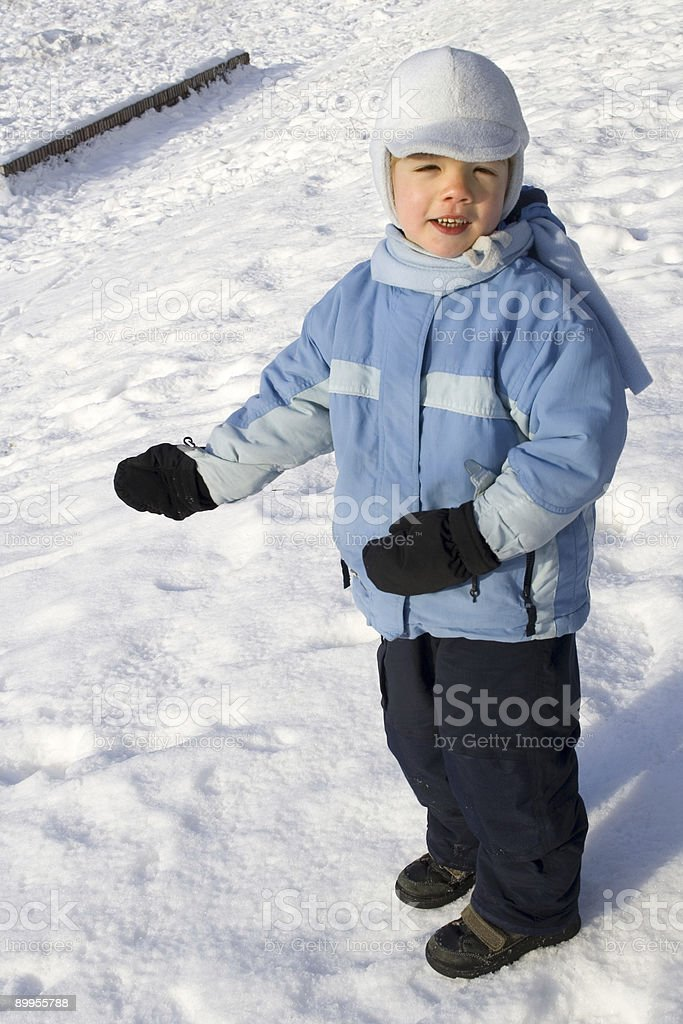 Happy winter boy royalty-free stock photo