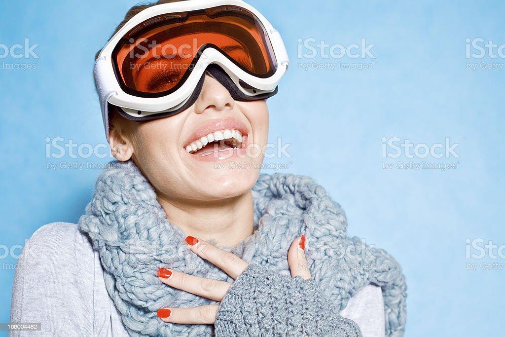 Happy Winter Girl royalty-free stock photo