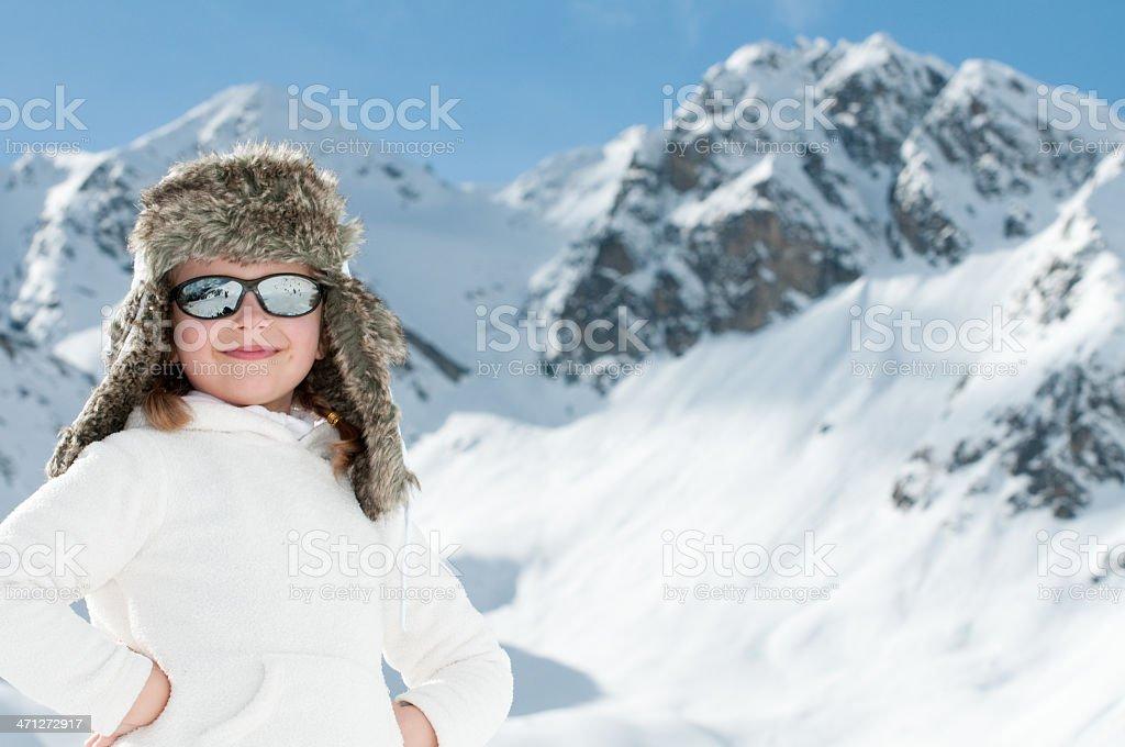 Happy winter vacation royalty-free stock photo
