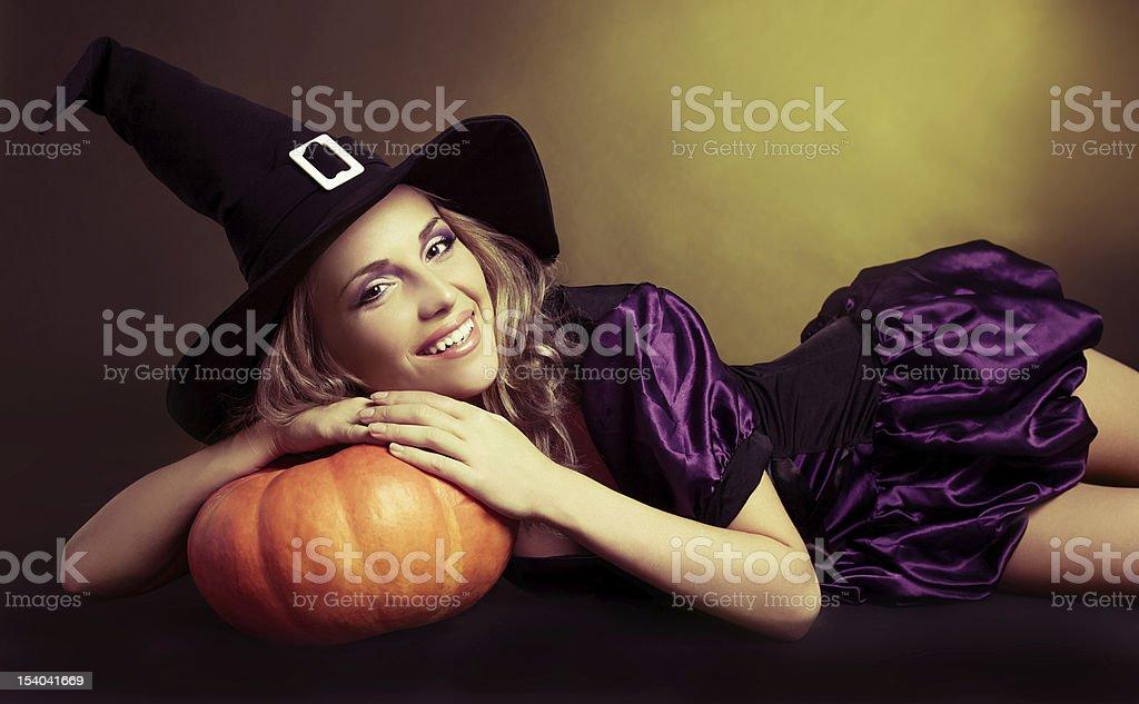 happy witch stock photo