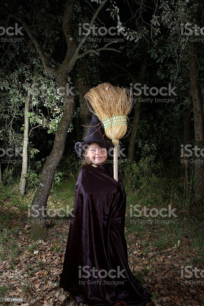 Happy witch. royalty-free stock photo