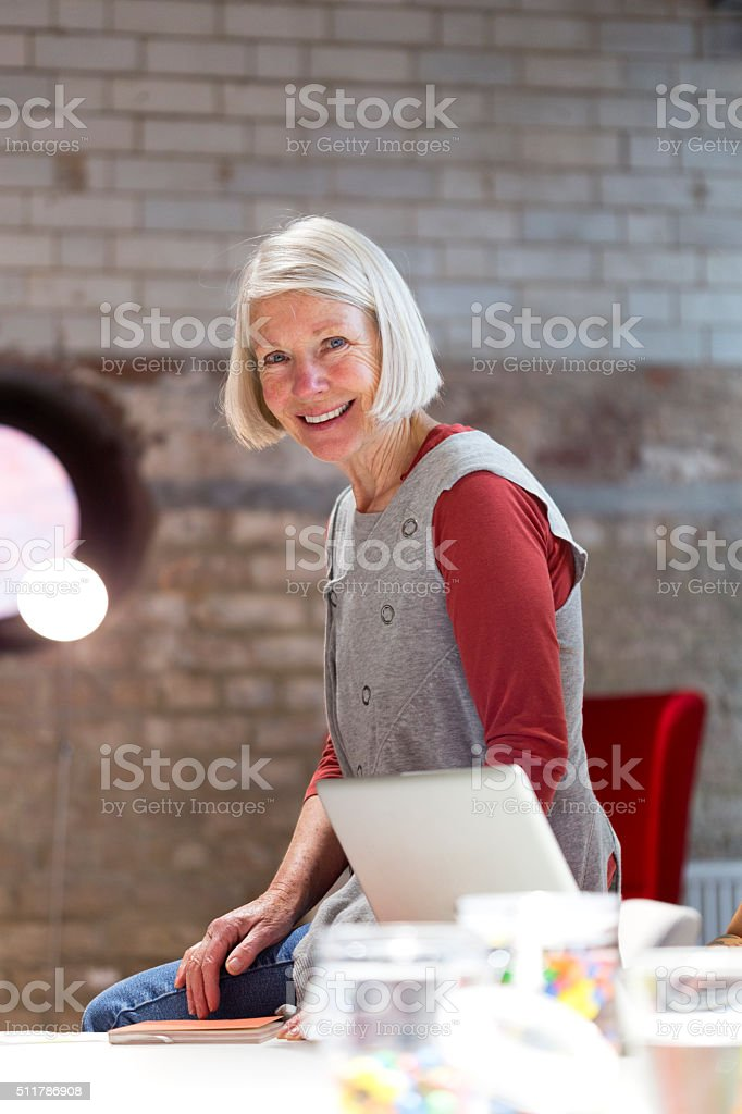 Happy with business. stock photo