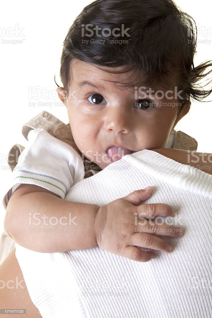 happy with her baby. royalty-free stock photo