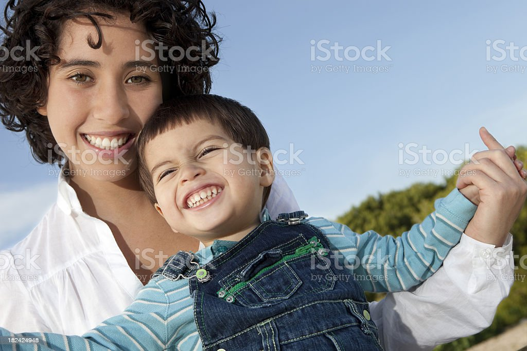 happy with my mum royalty-free stock photo