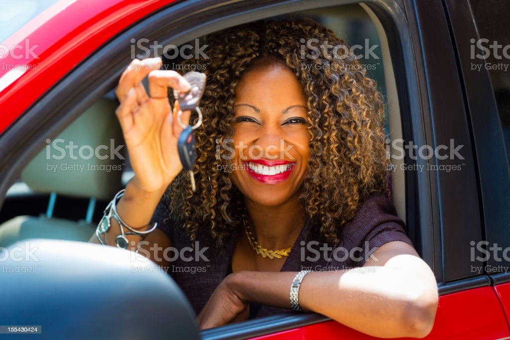 Happy Woman Driver royalty-free stock photo