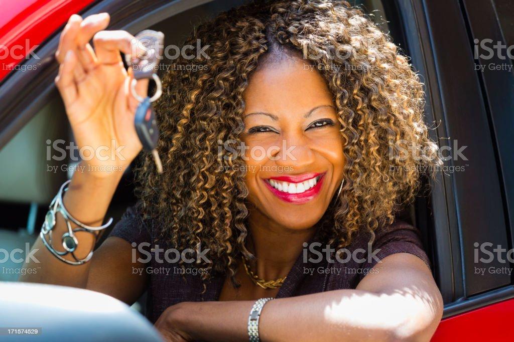 Happy Woman Driver stock photo