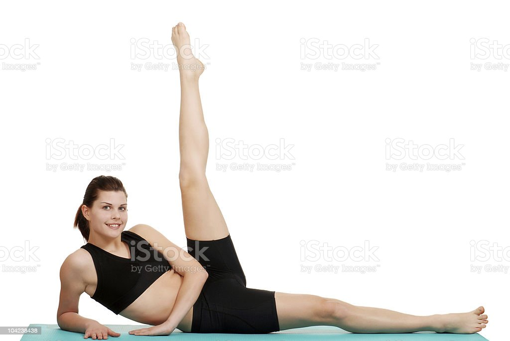 happy woman exercising royalty-free stock photo