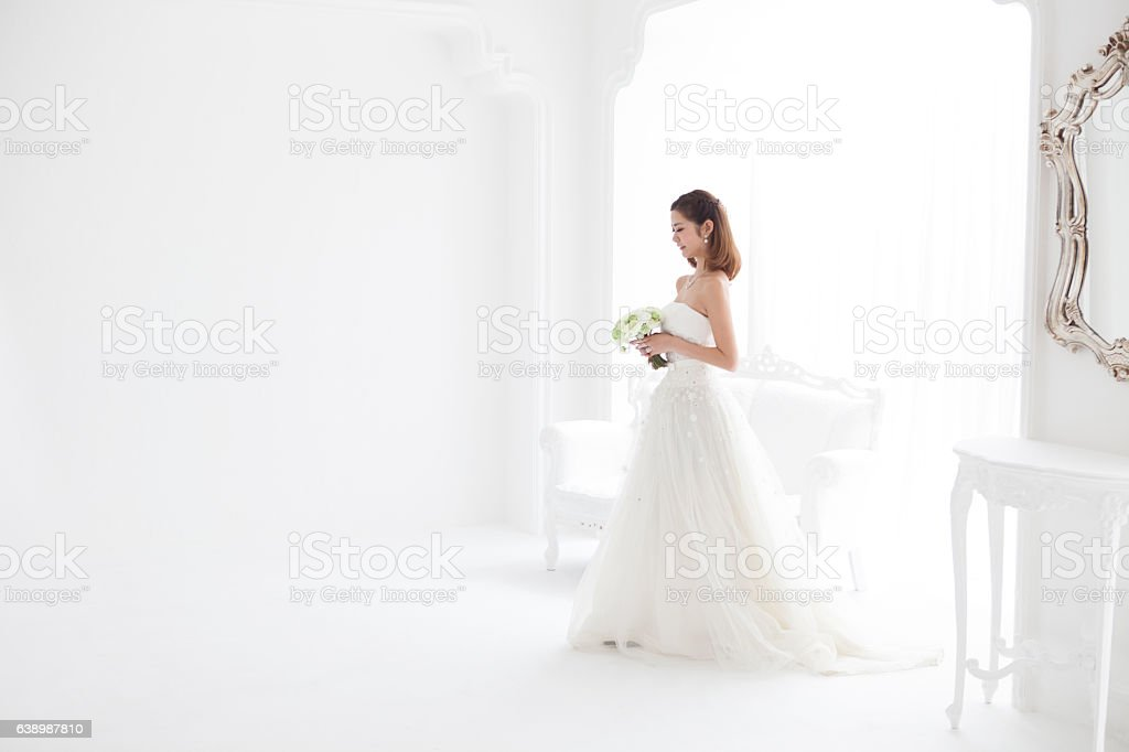 Happy woman found happiness. stock photo