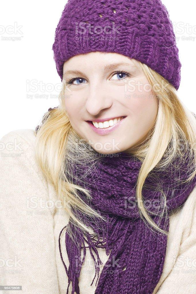Mujer feliz con un sombrero foto de stock libre de derechos