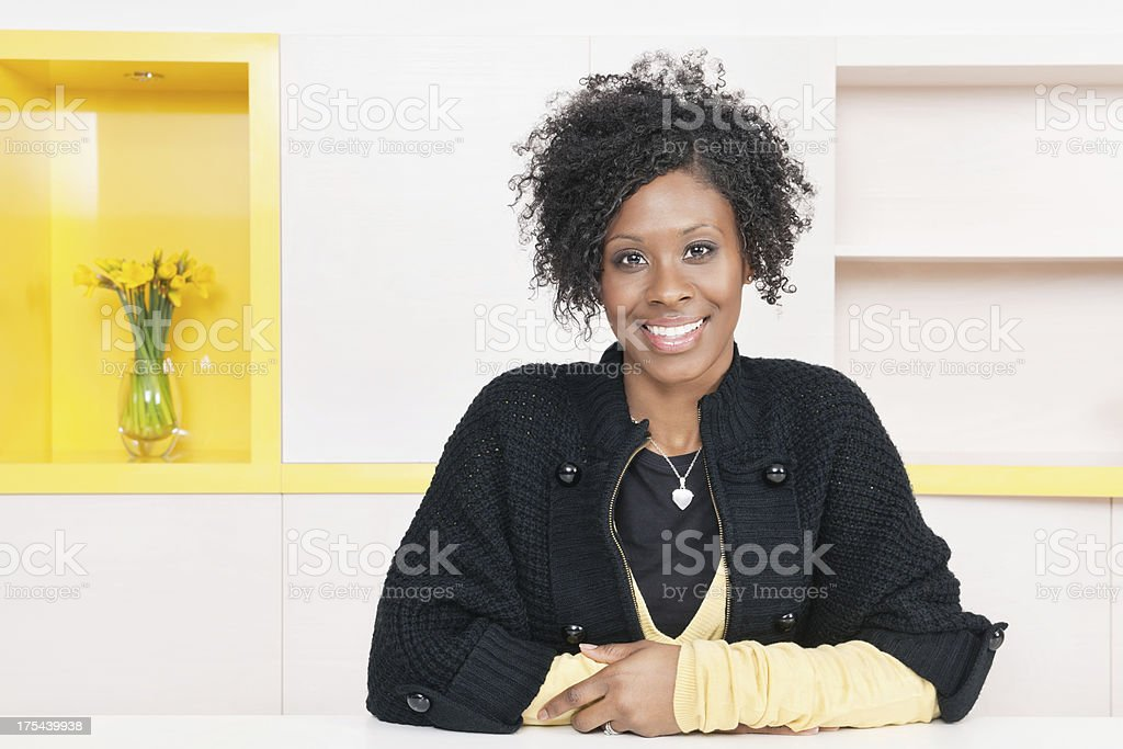Happy Woman In Casual Wear royalty-free stock photo