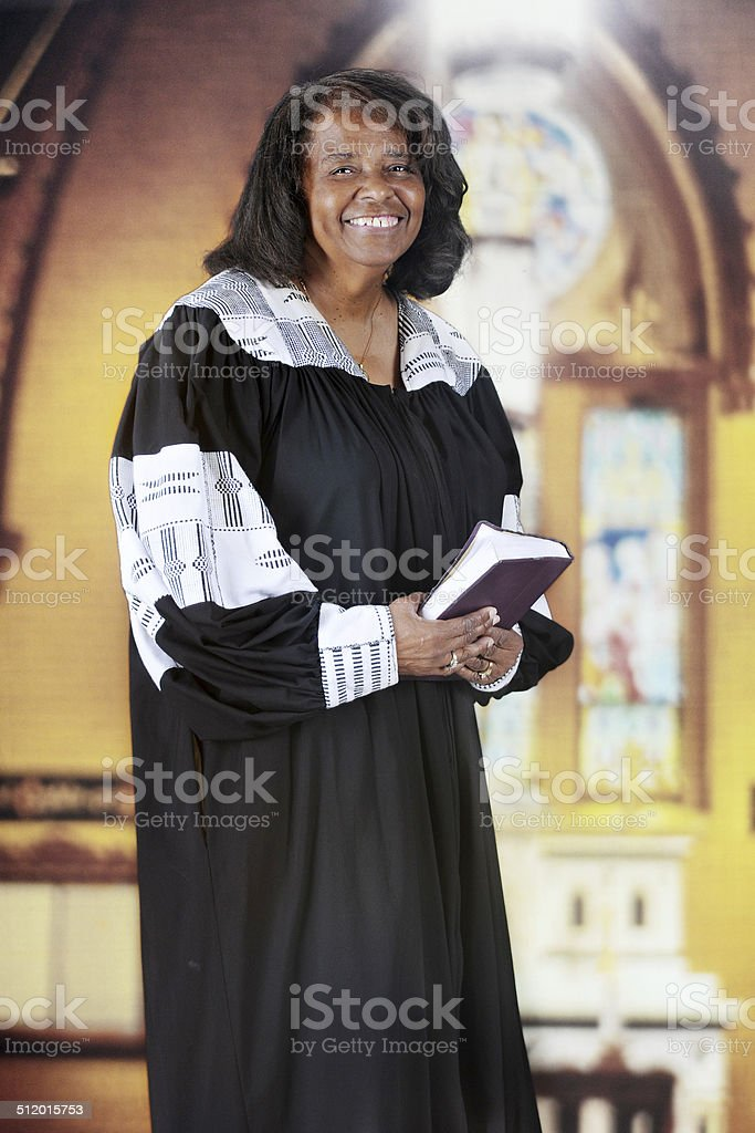 Happy Woman Pastor stock photo