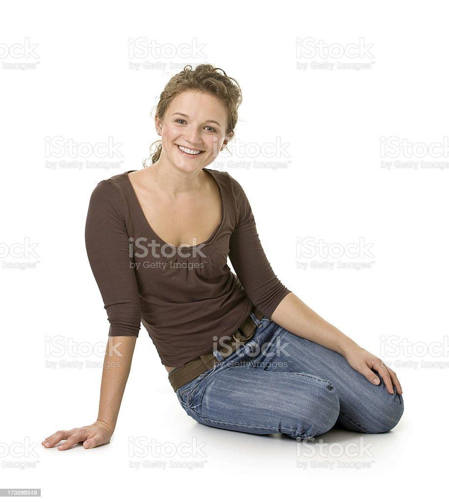 happy woman royalty-free stock photo