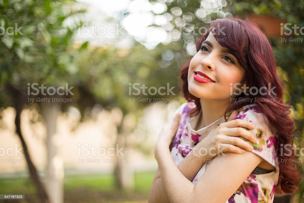 Happy woman stock photo