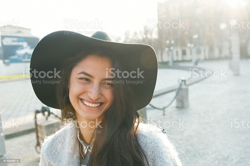 Happy woman. stock photo